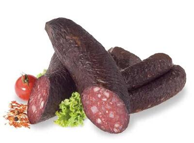 Unsere Chili-Schinken-Schwarzwurst